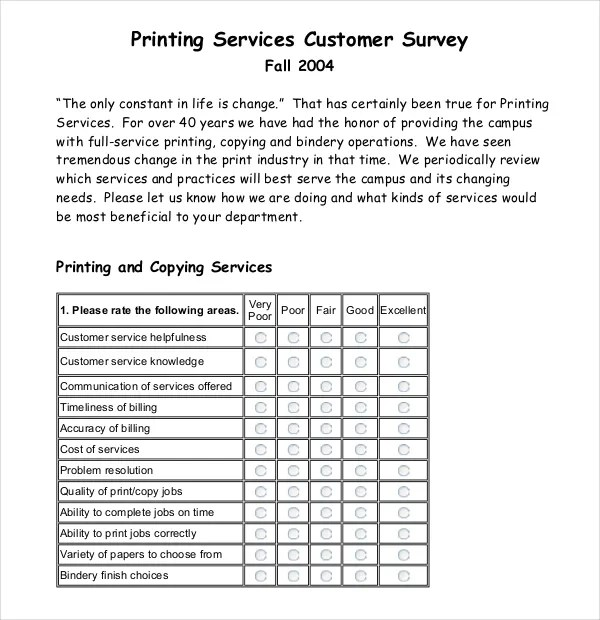 12+ Customer Survey Templates \u2013 Free Sample, Example, Format