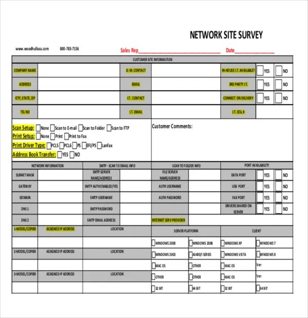 12+ Site Survey Templates \u2013 PDF, Word Free  Premium Templates