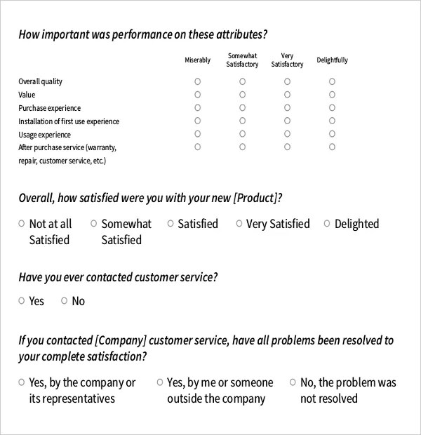10+ Survey Questions Templates \u2013 Free Sample, Example, Format