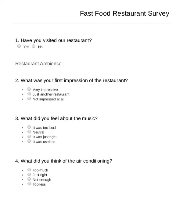 food survey - Romeolandinez