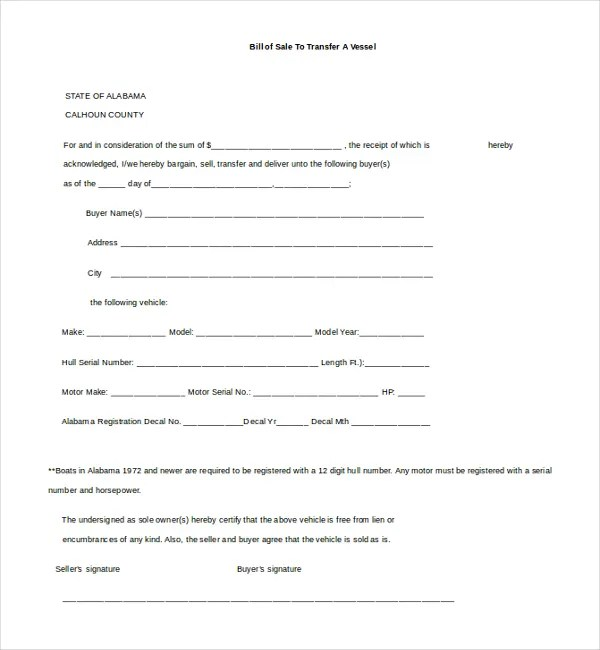 14+ Bill of Sale Templates - Free Sample, Example, Format Free