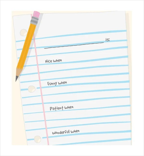 11+ Line Paper Templates - Free Sample, Example, Format Free - notebook paper download