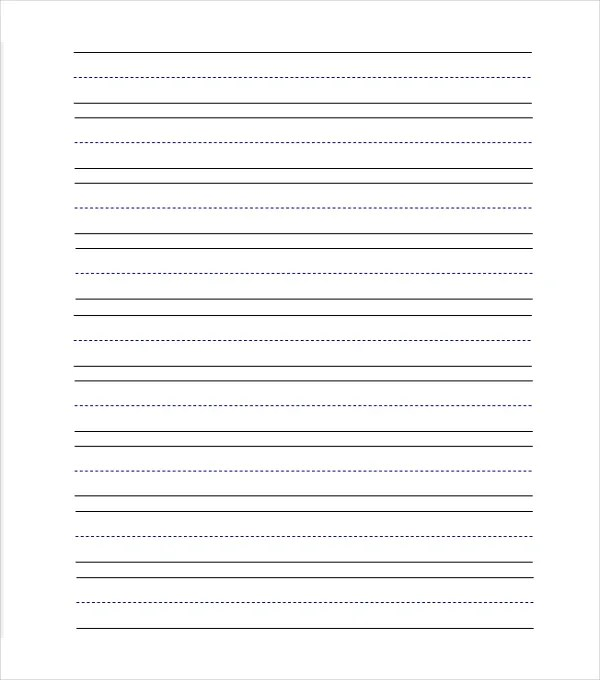 11+ Line Paper Templates - Free Sample, Example, Format Free - Free Writing Paper Template