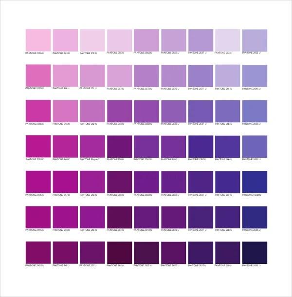 9+ Pantone Color Chart Templates - Free Sample, Example, Format - sample pantone color chart