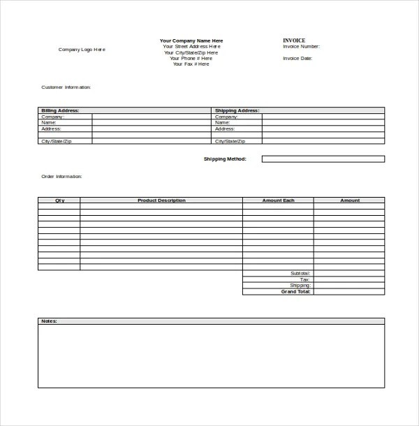 12+ Invoice Templates - Free Sample, Example, Format Free - blank invoice template free