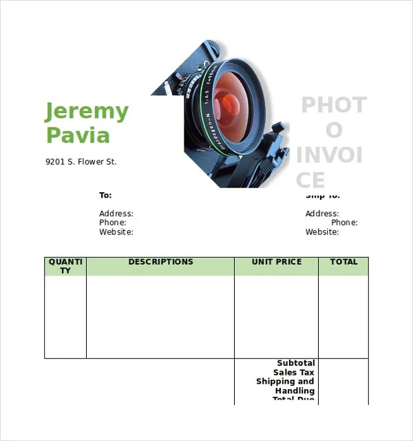 Photography Invoice Final-Commercial-Photography-Invoice 5 - photography invoice template