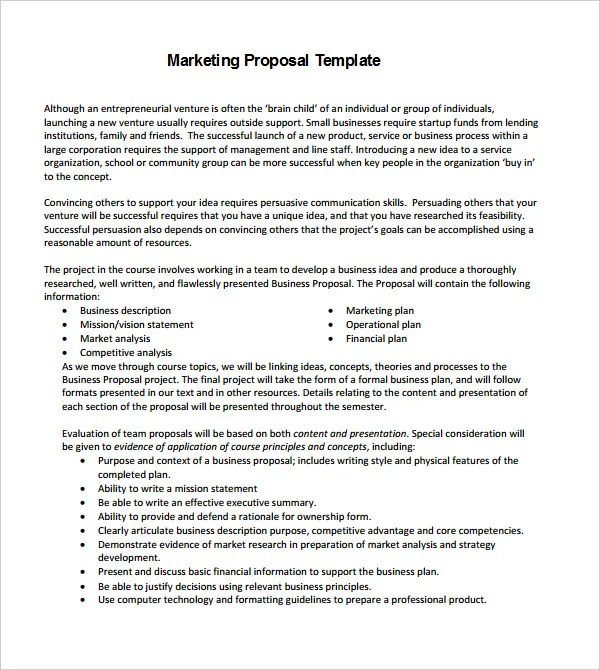 18+ Proposal Templates - Free Sample, Example, Format Free