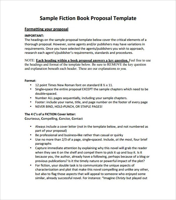 book proposal cover letter