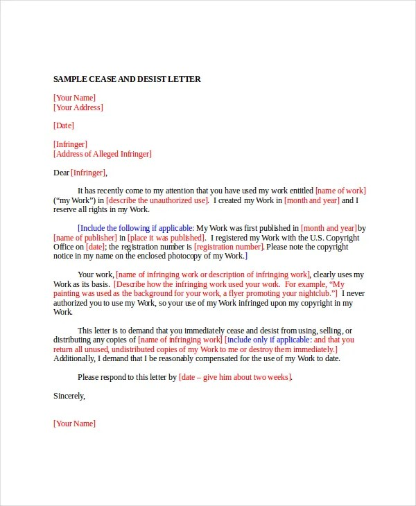 Fair Debt Collection Practices Act Demand Letter Cease And Desist