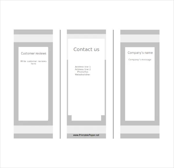 Blank Tri Fold Brochure Templates \u2013 31+ Free PSD, AI, Vector EPS