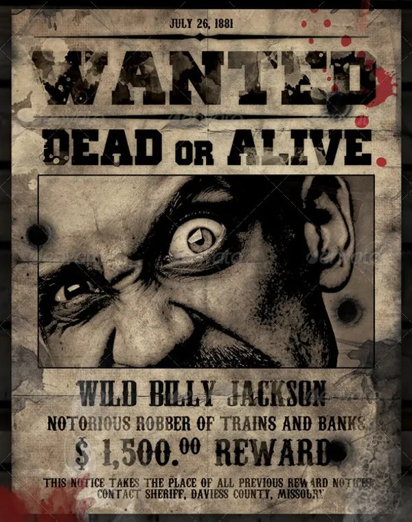 16+ Wanted Poster Templates - Free Sample, Example, Format Free - most wanted posters templates