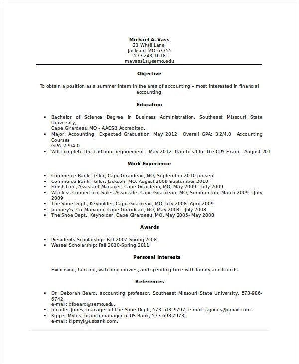 Bank Teller Resume Template - 5+ Free Word, Excel, PDF Documents - resume samples for bank teller