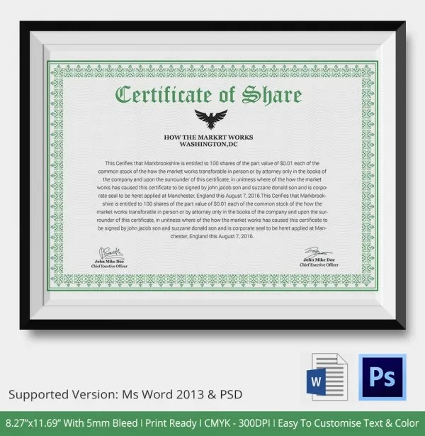 Professional Certificate Template - 10+ Free PDF, PSD, Vector, Eps - Free Professional Certificate Templates