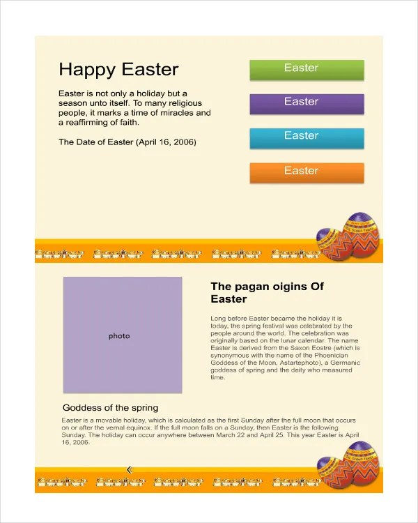 Sample Easter Powerpoint Template  NodeCvresumePaasproviderCom