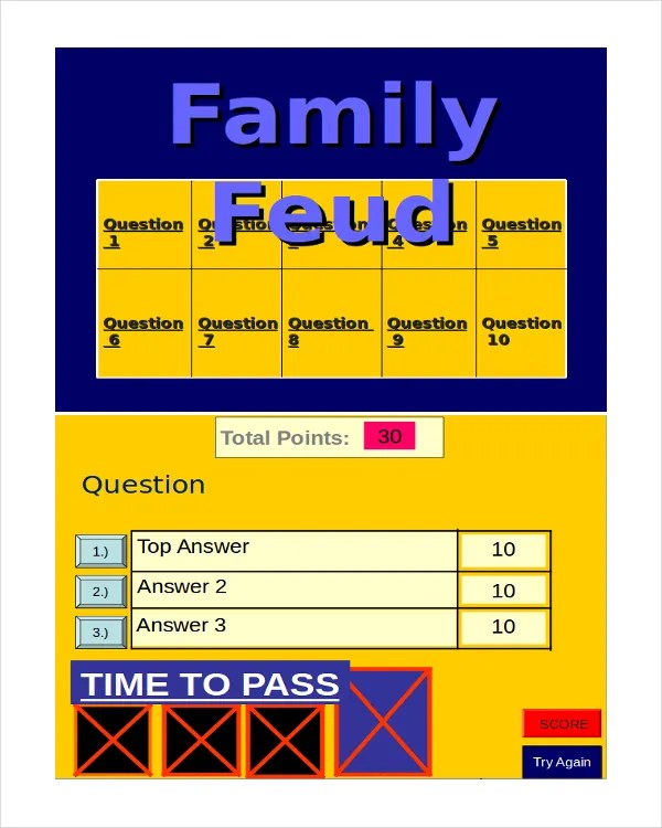 30+ Powerpoint Templates - Free Sample, Example Format Free - family feud power point template