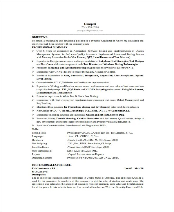 Software Engineer Resume Template - 6+ Free Word, PDF Documents