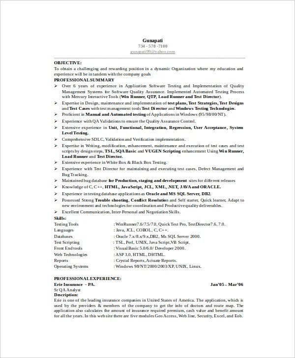 google software engineer resume