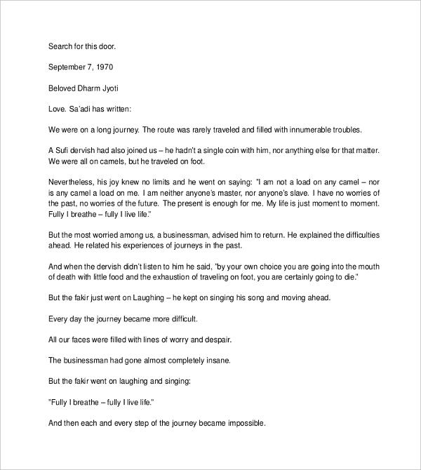 Love Letter Format Sample Best Template Collection Love Letter - love letter template for him