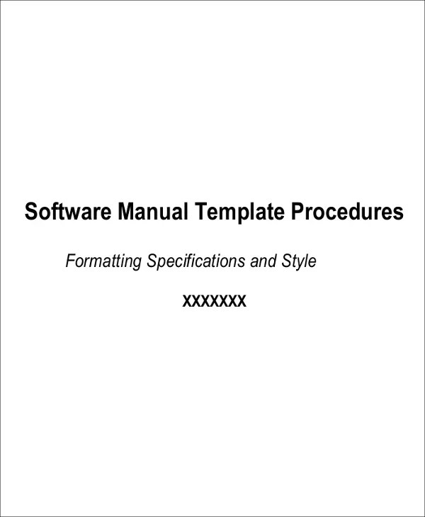 8+Instruction Manual Templates - Free Sample, Example Format - software manual template