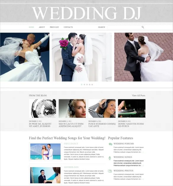 37+ Dj Website Themes  Templates Free  Premium Templates - wedding song list for dj template