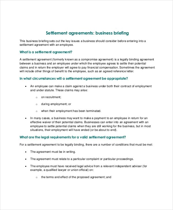 Confidentiality Settlement Agreement \u2013 10+ Free Word, PDF Documents - settlement agreement