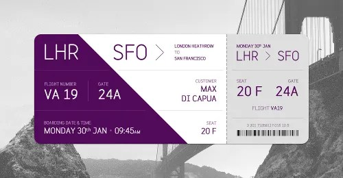 35+ Ticket Templates - Free Sample, Example, Format Free  Premium - airplane ticket template