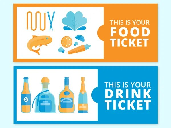 35+ Ticket Templates - Free Sample, Example, Format Free  Premium - food tickets template