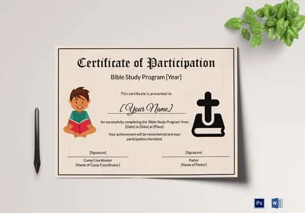 Kids Certificate Template - 14+ PDF, PSD, Vector Format Download