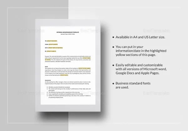 Official Professional Memo Template In Word Google Docs Apple Pages