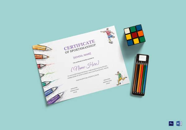 Kids Certificate Template - 14+ PDF, PSD, Vector Format Download - certificate template for kids