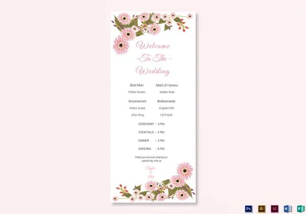 free download wedding program