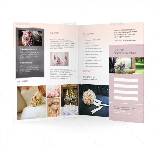 20+ Wedding Planner Brochure Templates - PSD, AI, Docs, Pages Free