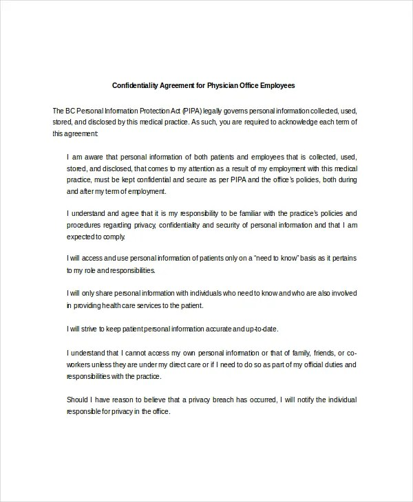 personal confidentiality agreements - fototango