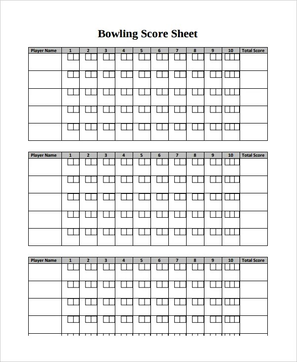 11+ Scoreboard Templates - Free Sample, Example, Format Free - sample tennis score sheet template