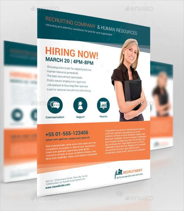11+ Recruitment Flyer Templates - Free PSD, AI, EPS Format Download
