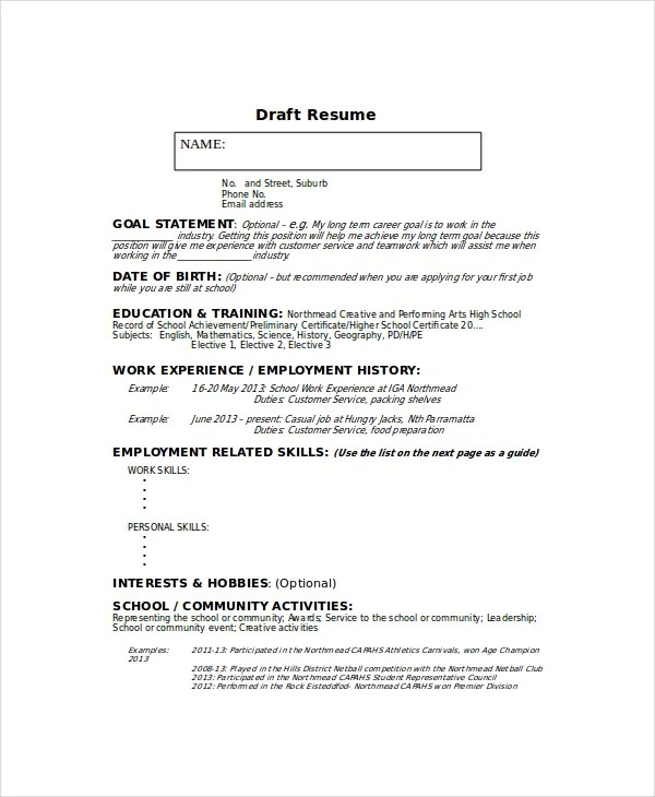 Babysitter Resume Template - 6+ Free Word, PDF Documents Download - personal skills resume