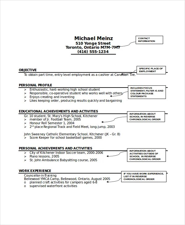 Babysitter Resume Template - 6+ Free Word, PDF Documents Download - activities resume template