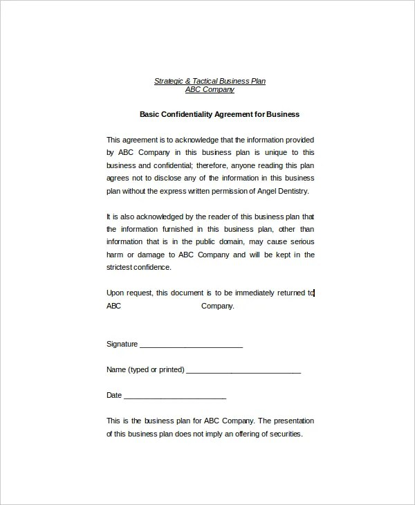 Example Confidentiality Agreement Nz | Create Professional Resumes