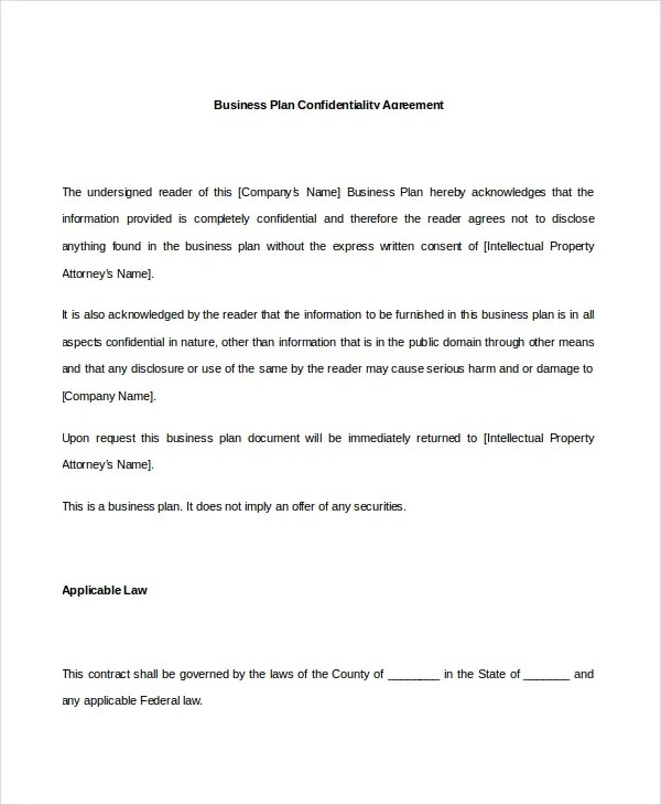 10+ Business Confidentiality Agreement Templates \u2013 Free Sample - business confidentiality agreement sample
