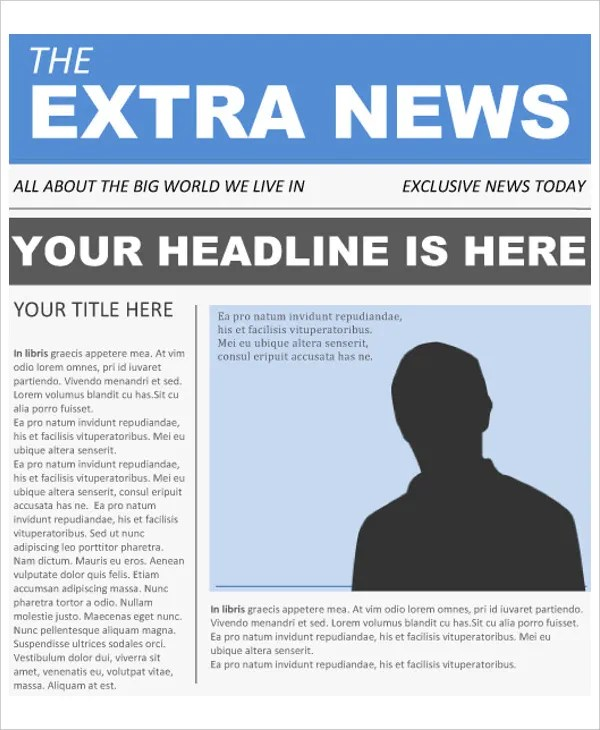 16+ Newspaper Templates - Free Sample, Example, Format Free - online newspaper template