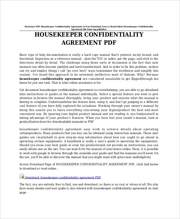 11+ Celebrity Confidentiality Agreement Templates \u2013 Free Sample