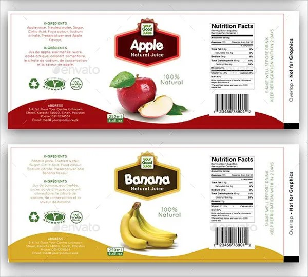 17+ Bottle Label Templates - Free PSD, AI, EPS Format Download - ingredient label template