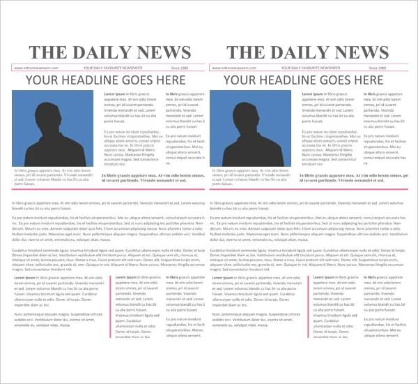 16+ Newspaper Templates - Free Sample, Example, Format Free - newspaper headline template