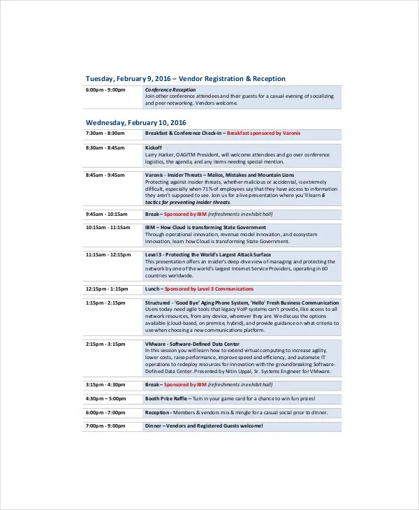 Professional Agenda Template - 5+ Free Word, PDF Documents Download