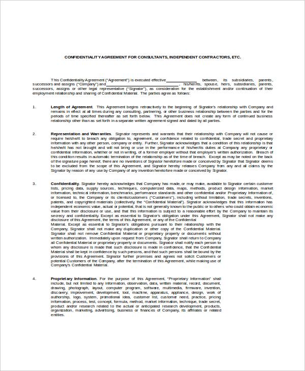 14+ Client Confidentiality Agreement Templates \u2013 Free Sample - sample client confidentiality agreements