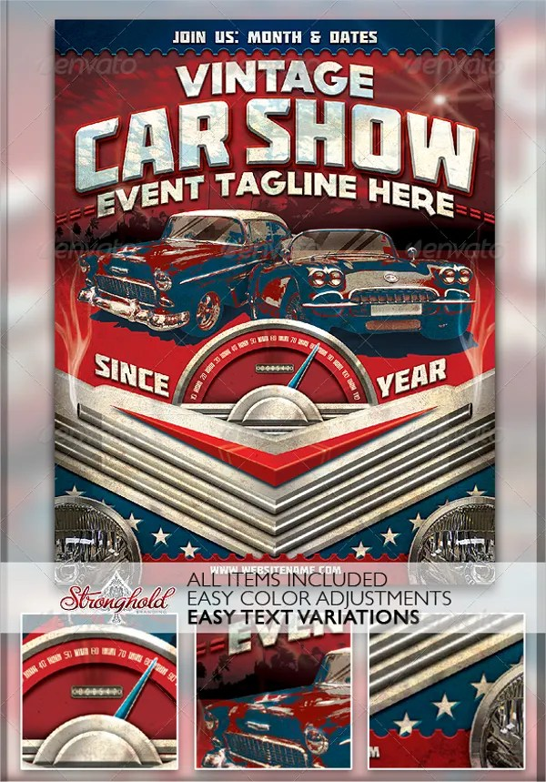 20+ Car Show Flyer Template - Free PSD, AI, EPS Format Download