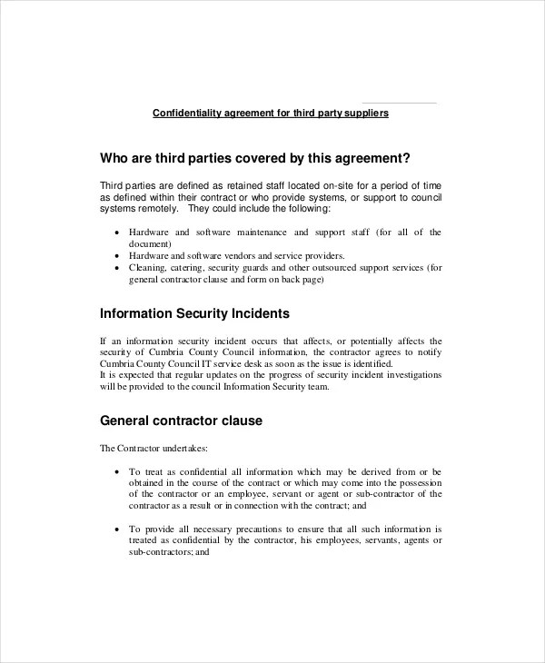 Confidentiality Clause Contract  NodeCvresumePaasproviderCom