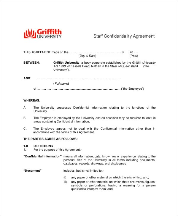 employee confidentiality agreement sample - Onwebioinnovate