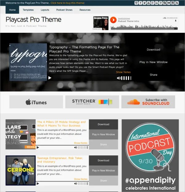 18+ Podcast WordPress Themes  Templates Free  Premium Templates - podcast website template