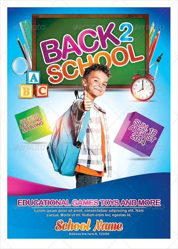 22+ Back to School Flyers - Free PSD, AI, EPS Format Download Free